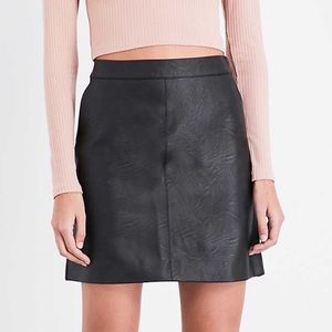 Topshop Black Faux Leather Mini Skirt!